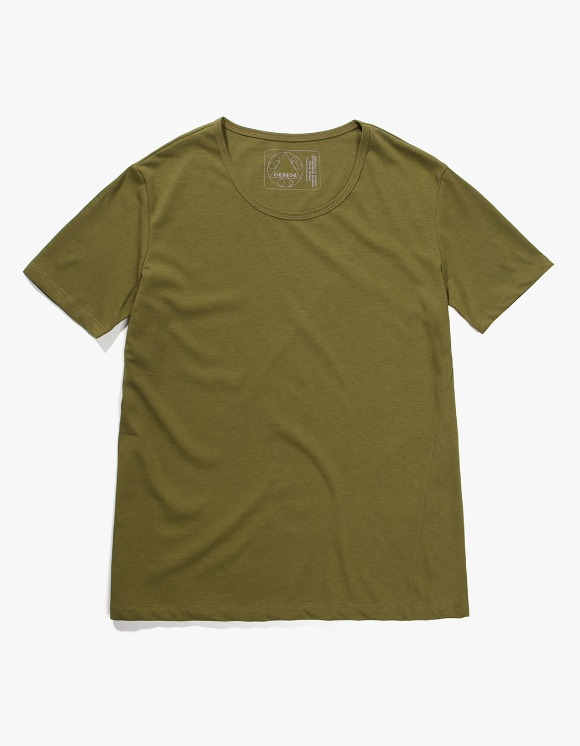 Gliese 581 Silket Cotton U Neck T-shirts - Khaki | HEIGHTS. | 하이츠 온라인 스토어