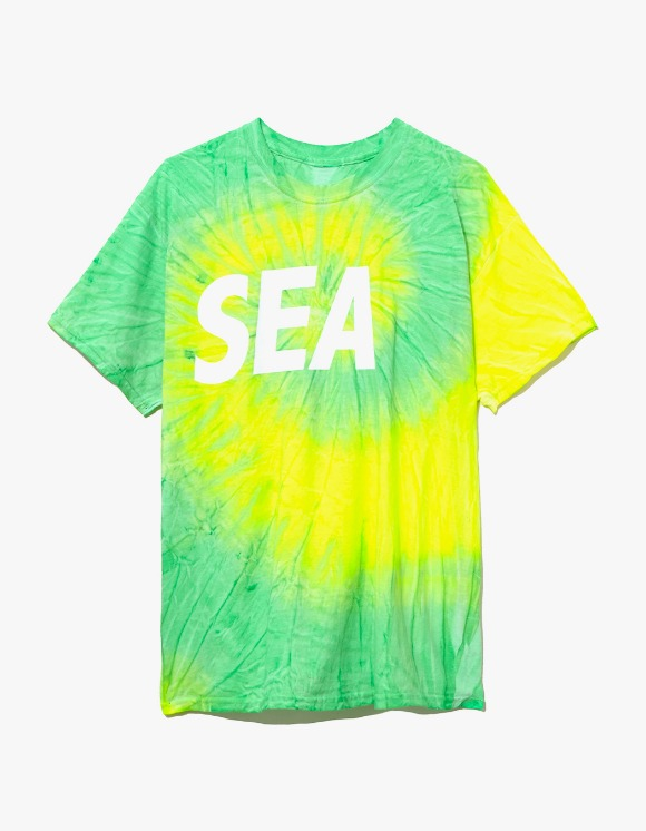 Wind & Sea Tie Dye T-shirts - Lime | HEIGHTS. | 하이츠 온라인 스토어