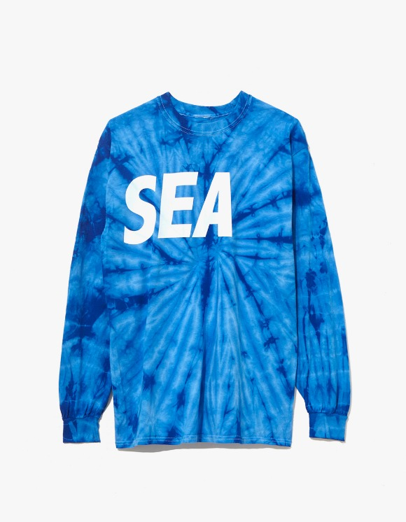 Wind & Sea Cut-Sewin Tie Dye L/S Tee - Blue | HEIGHTS. | 하이츠 온라인 스토어