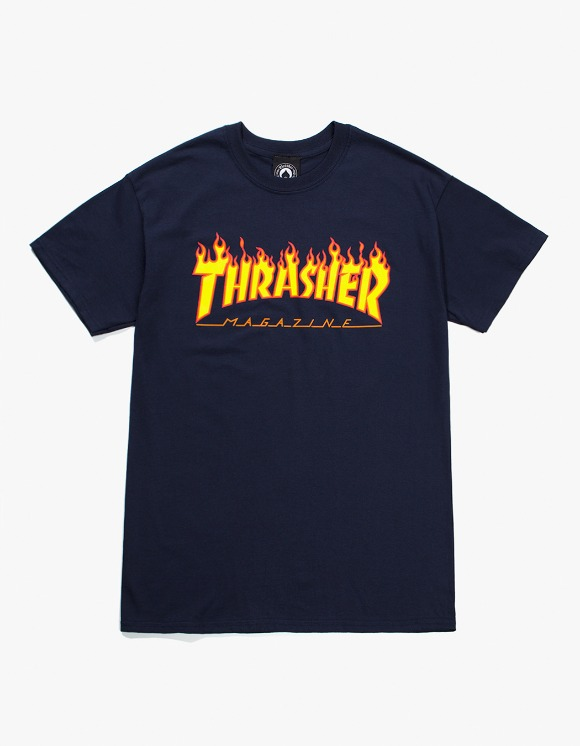 Thrasher Flame S/S Tee - Navy | HEIGHTS. | 하이츠 온라인 스토어