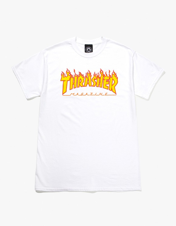 Thrasher Flame S/S Tee - White | HEIGHTS. | 하이츠 온라인 스토어