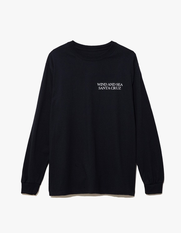 Wind & Sea Cut-Sewin Santa Cruz L/S Tee - Black | HEIGHTS. | 하이츠 온라인 스토어