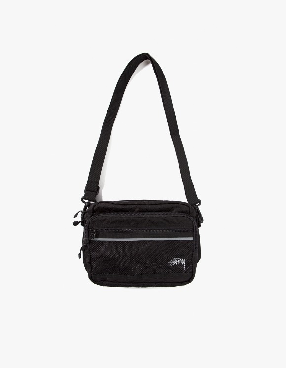 Stussy Diamond Ripstop Shoulder Bag - Black | HEIGHTS. | 하이츠 온라인 스토어