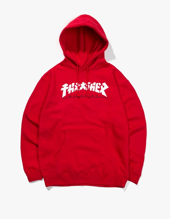 Thrasher Godzilla Hood - Red | HEIGHTS. | 하이츠 온라인 스토어