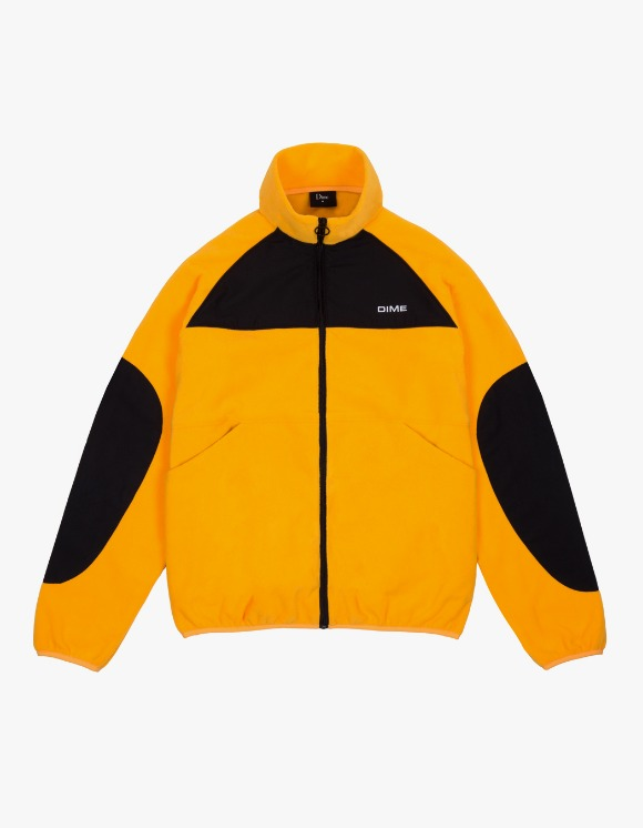 Dime Polar Fleece Track Jacket - Gold/Black | HEIGHTS. | 하이츠 온라인 스토어