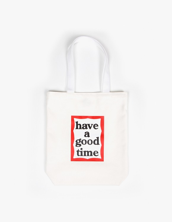 have a good time Frame Tote Bag - White | HEIGHTS. | 하이츠 온라인 스토어