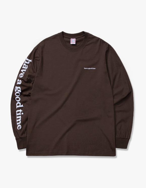 have a good time Arm Side Logo L/S Tee - Chocolate | HEIGHTS. | 하이츠 온라인 스토어