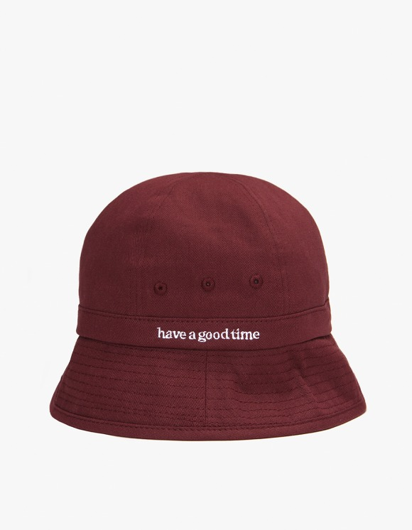 have a good time Side Logo Bucket Hat - Burgundy | HEIGHTS. | 하이츠 온라인 스토어