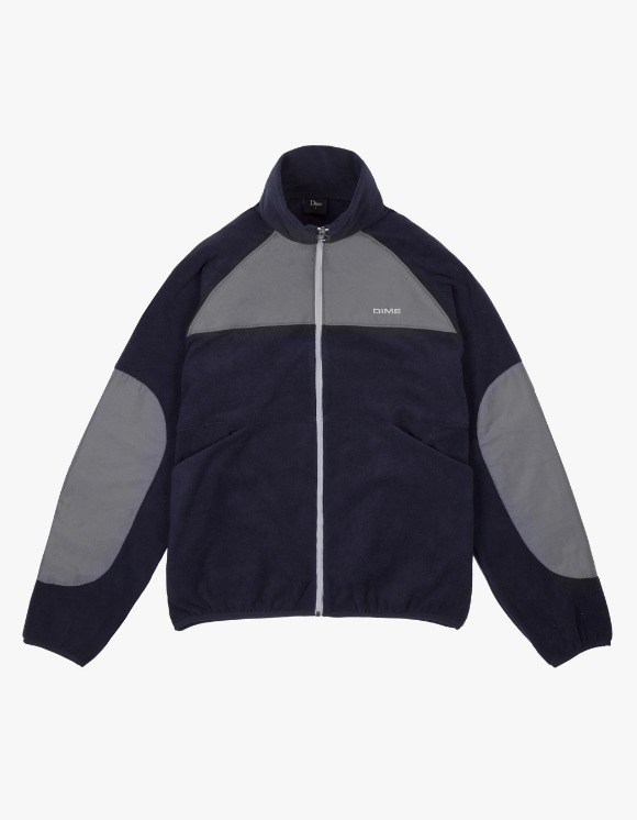 Dime Polar Fleece Track Jacket - Navy/Charcoal | HEIGHTS. | 하이츠 온라인 스토어