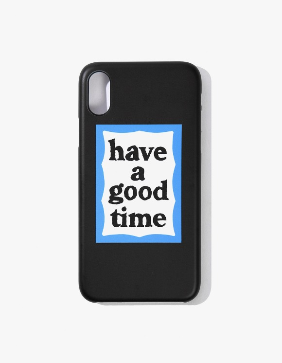 have a good time Blue Frame iPhone Case X/XS - Black | HEIGHTS. | 하이츠 온라인 스토어