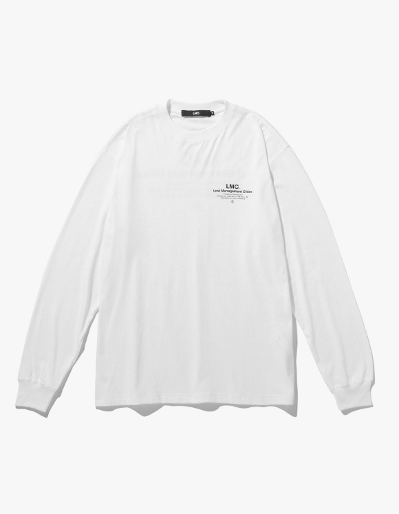 LMC LMC INFLUENCER LONG SLV TEE white | HEIGHTS. | 하이츠 온라인 스토어