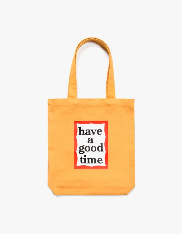 have a good time Frame Tote Bag - Cheddar Cheese | HEIGHTS. | 하이츠 온라인 스토어