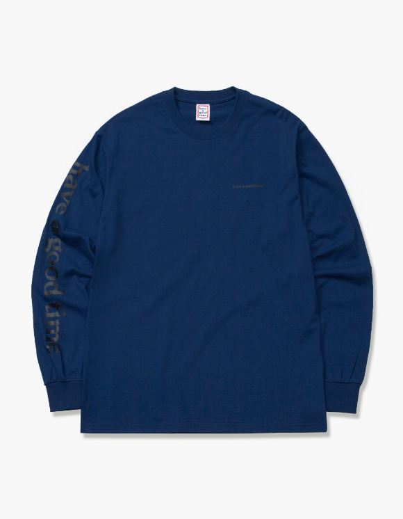 have a good time Arm Side Logo L/S Tee - Midnight Blue | HEIGHTS. | 하이츠 온라인 스토어
