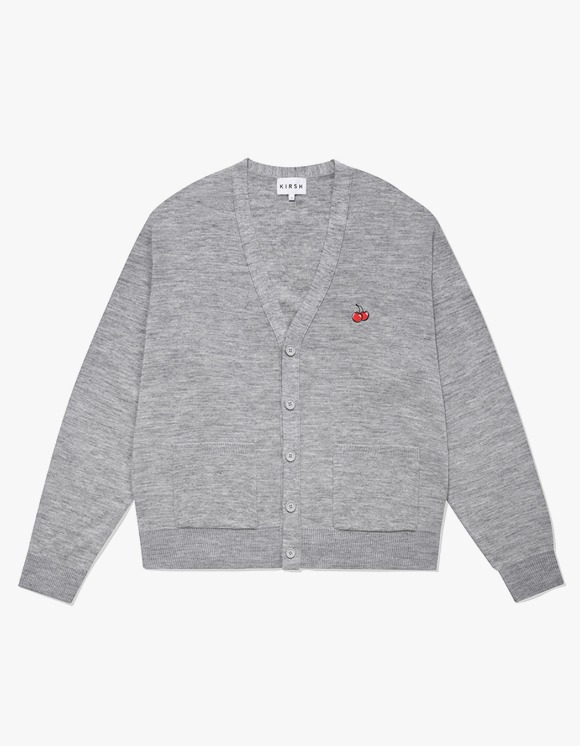 KIRSH [9월 2일 예약발송]SMALL CHERRY V NECK CARDIGAN IA - GRAY | HEIGHTS. | 하이츠 온라인 스토어