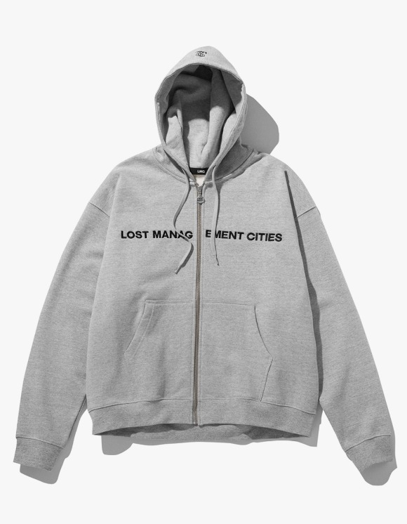 LMC LMC CAPITAL ZIP-UP HOODIE heather gray | HEIGHTS. | 하이츠 온라인 스토어