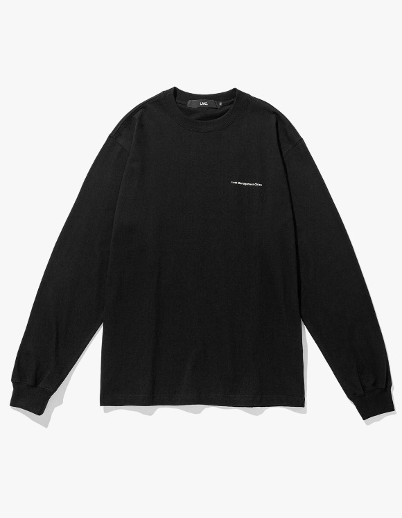 LMC LMC JANUS GLOBE LONG SLV TEE black | HEIGHTS. | 하이츠 온라인 스토어
