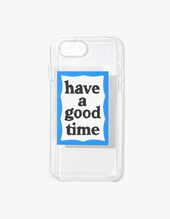 have a good time Blue Frame iPhone Case 6/7/8 - Clear | HEIGHTS. | 하이츠 온라인 스토어