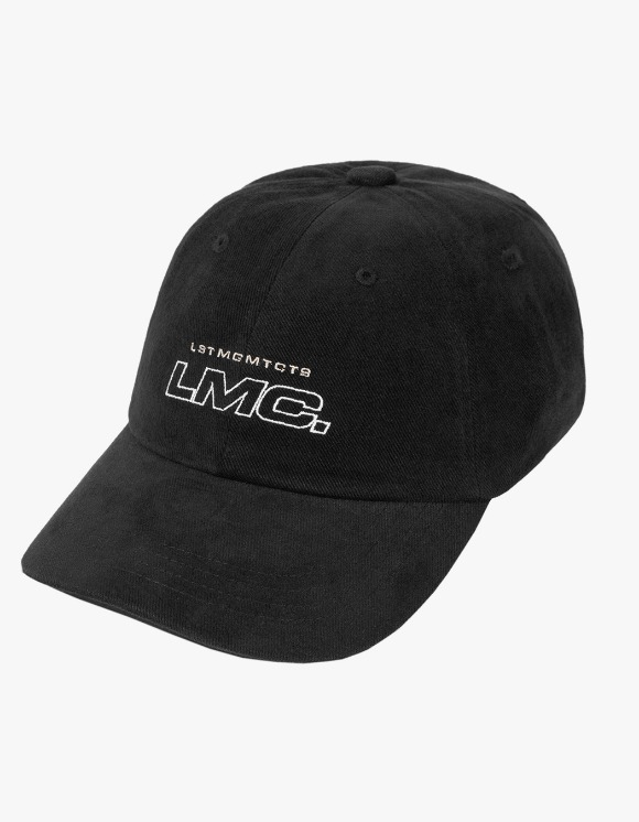 LMC LMC ITALIC OUTLINE 6 PANEL CAP black | HEIGHTS. | 하이츠 온라인 스토어