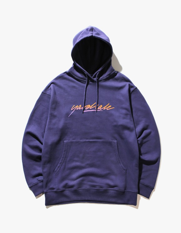 Yard Sale Sunburn Script Hood - Indigo | HEIGHTS. | 하이츠 온라인 스토어