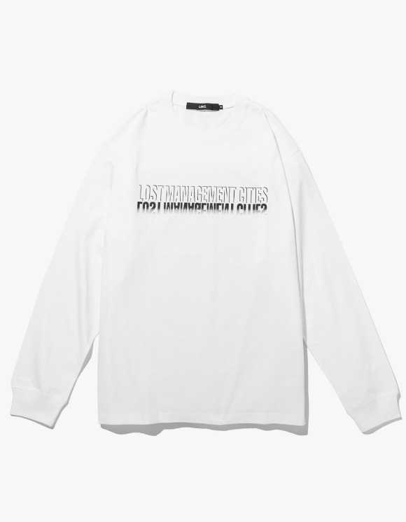 LMC LMC SHADOW FN LONG SLV TEE white | HEIGHTS. | 하이츠 온라인 스토어