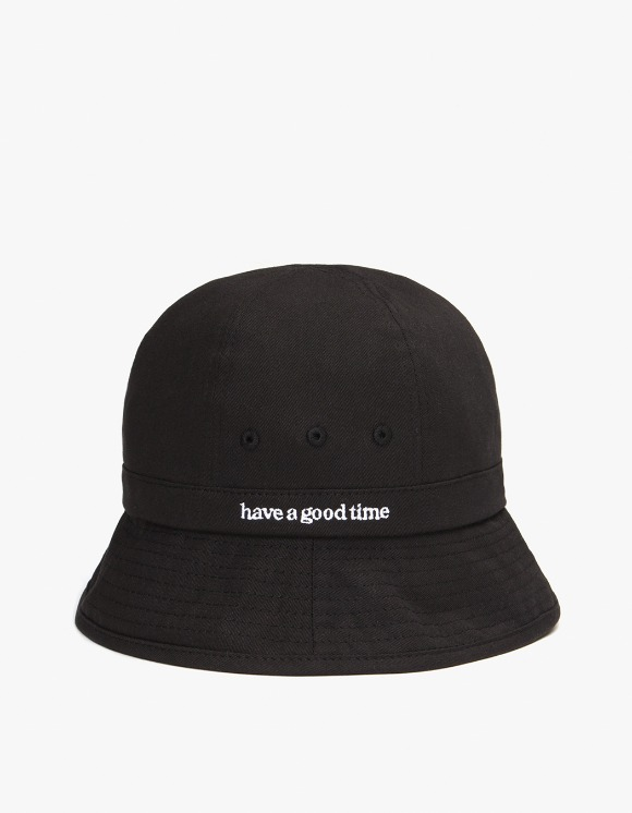 have a good time Side Logo Bucket Hat - Black | HEIGHTS. | 하이츠 온라인 스토어