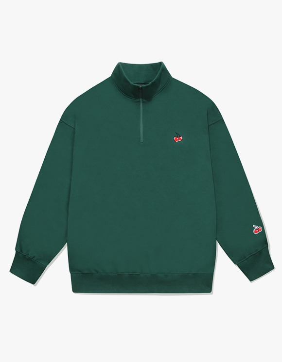 KIRSH SMALL CHERRY SWEATSHIRT IA - BLUE GREEN | HEIGHTS. | 하이츠 온라인 스토어
