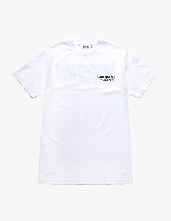 Kompakt Record Bar Original Logo S/S Tee - White | HEIGHTS. | 하이츠 온라인 스토어