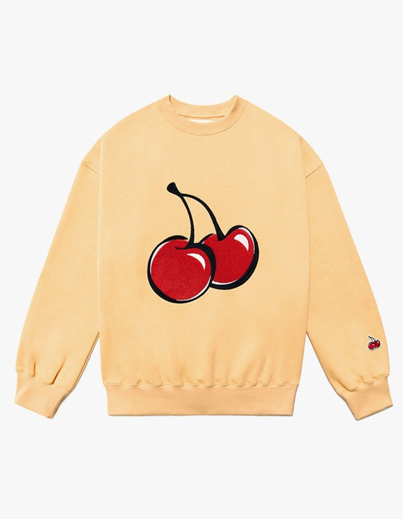 KIRSH BIG CHERRY SWEATSHIRT IA  - LIGHT ORANGE | HEIGHTS. | 하이츠 온라인 스토어