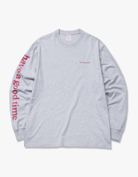 have a good time Arm Side Logo L/S Tee - Heather Grey | HEIGHTS. | 하이츠 온라인 스토어