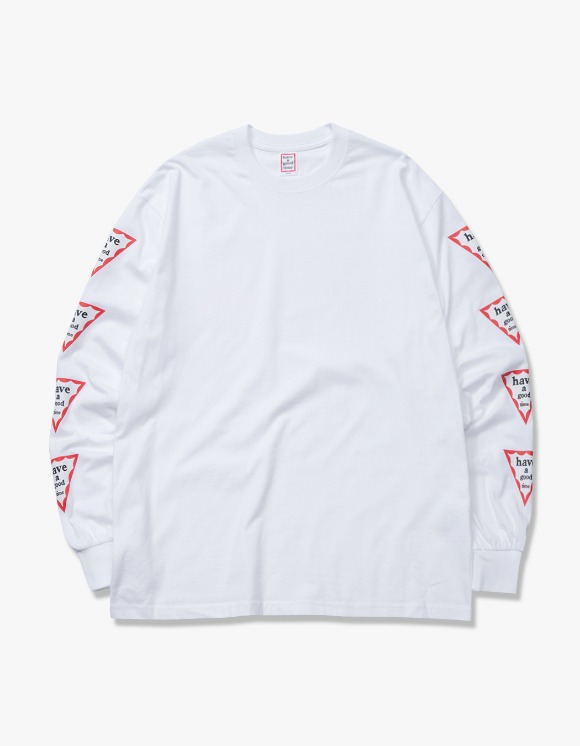 have a good time Arm Triangle Frame L/S Tee - White | HEIGHTS. | 하이츠 온라인 스토어