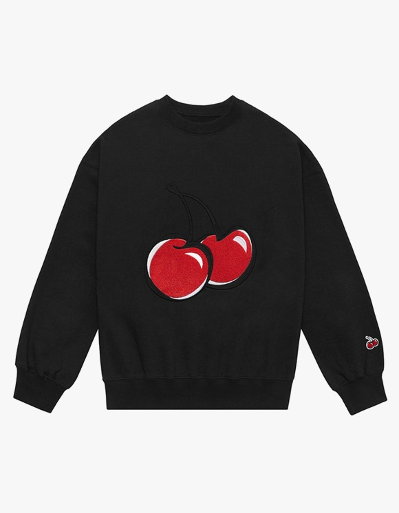 KIRSH BIG CHERRY SWEATSHIRT IA  - BLACK | HEIGHTS. | 하이츠 온라인 스토어