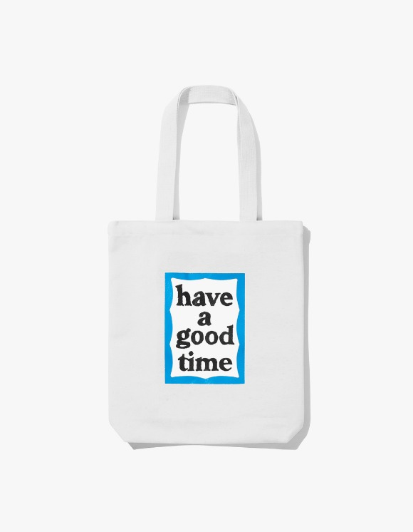 have a good time Blue Frame Tote Bag - White | HEIGHTS. | 하이츠 온라인 스토어