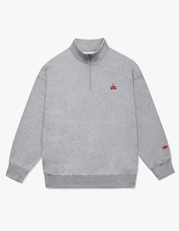 KIRSH SMALL CHERRY SWEATSHIRT IA  - MELANGE GRAY | HEIGHTS. | 하이츠 온라인 스토어