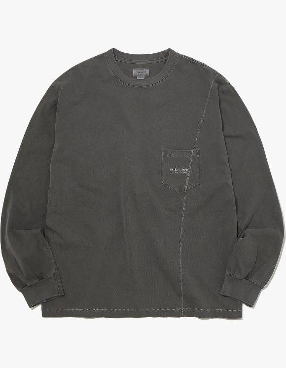 thisisneverthat Overdyed Pocket L/SL Top - Charcoal | HEIGHTS. | 하이츠 온라인 스토어