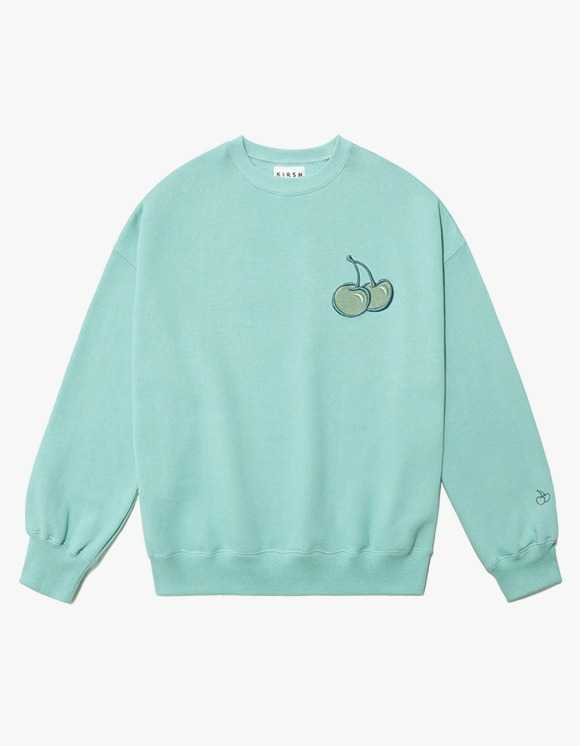 KIRSH CHERRY TONE ON TONE SWEATSHIRT IA - MINT | HEIGHTS. | 하이츠 온라인 스토어