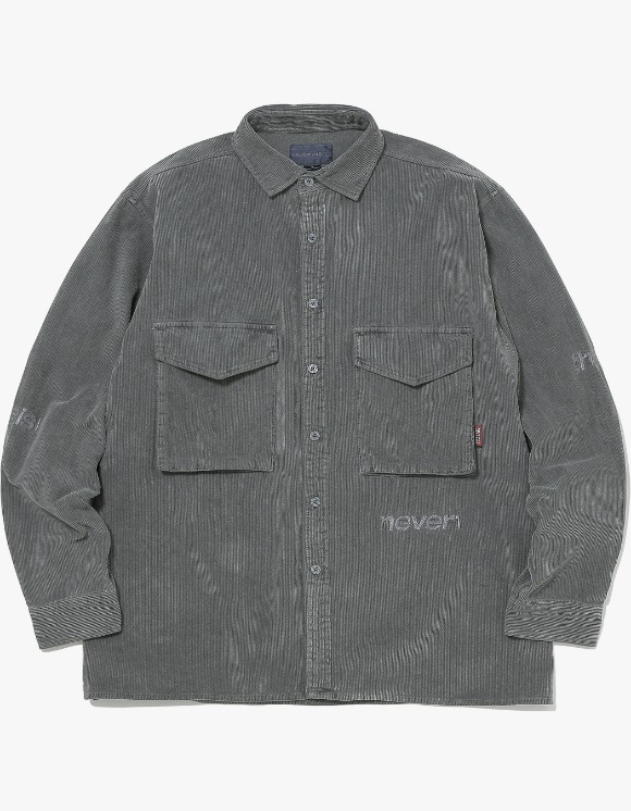 thisisneverthat SP-Logo Corduroy Shirt - Charcoal | HEIGHTS. | 하이츠 온라인 스토어
