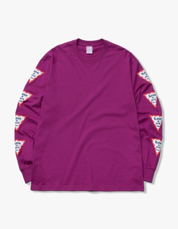 have a good time Arm Triangle Frame L/S Tee - Purple | HEIGHTS. | 하이츠 온라인 스토어
