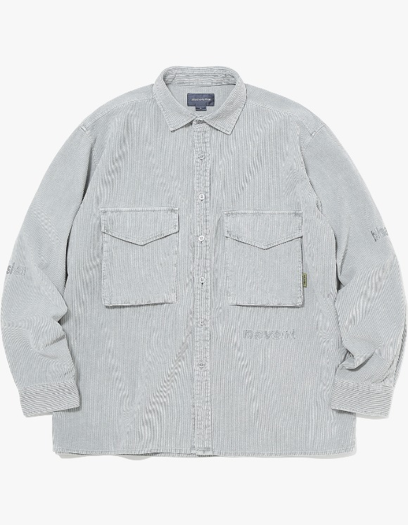 thisisneverthat SP-Logo Corduroy Shirt - Grey | HEIGHTS. | 하이츠 온라인 스토어