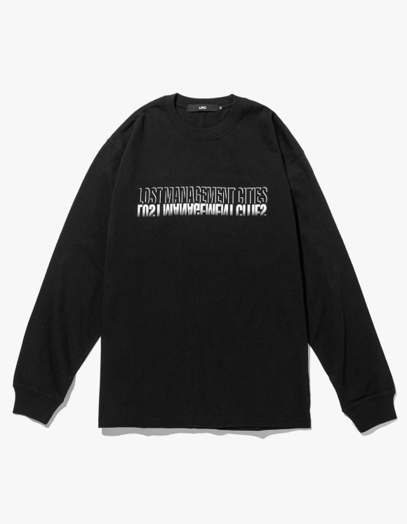 LMC LMC SHADOW FN LONG SLV TEE black | HEIGHTS. | 하이츠 온라인 스토어