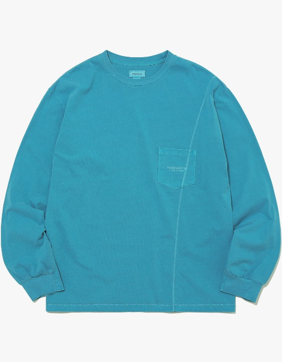 thisisneverthat Overdyed Pocket L/SL Top - Blue Green | HEIGHTS. | 하이츠 온라인 스토어