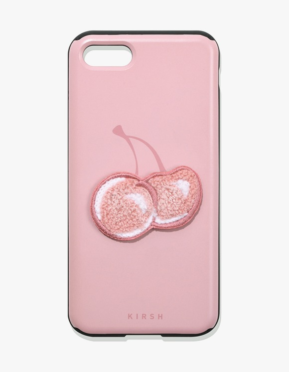 KIRSH BIG CHERRY MIRROR PHONE CASE IA - LIGHT PINK | HEIGHTS. | 하이츠 온라인 스토어