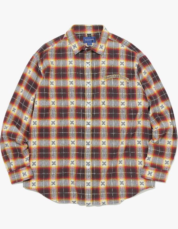 thisisneverthat ARC-Logo African Check Shirt - Red | HEIGHTS. | 하이츠 온라인 스토어