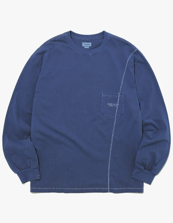 thisisneverthat Overdyed Pocket L/SL Top - Navy | HEIGHTS. | 하이츠 온라인 스토어
