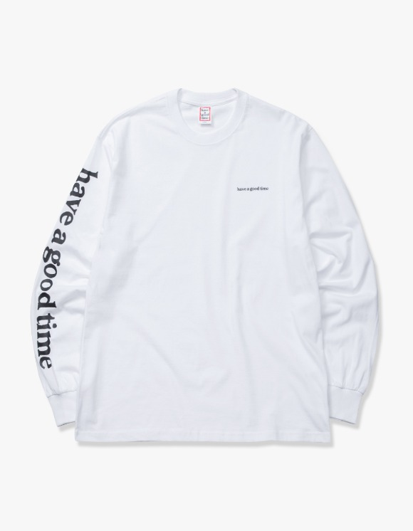 have a good time Arm Side Logo L/S Tee - White | HEIGHTS. | 하이츠 온라인 스토어