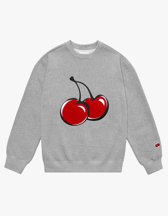 KIRSH BIG CHERRY SWEATSHIRT IA  - MELANGE GRAY | HEIGHTS. | 하이츠 온라인 스토어