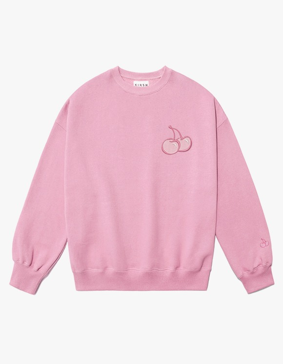 KIRSH CHERRY TONE ON TONE SWEATSHIRT IA  - LIGHT PINK | HEIGHTS. | 하이츠 온라인 스토어