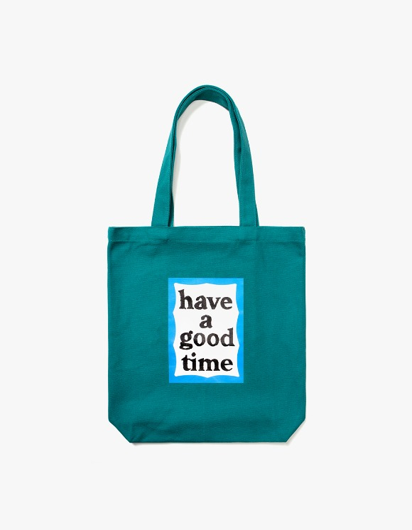 have a good time Blue Frame Tote Bag - Green | HEIGHTS. | 하이츠 온라인 스토어