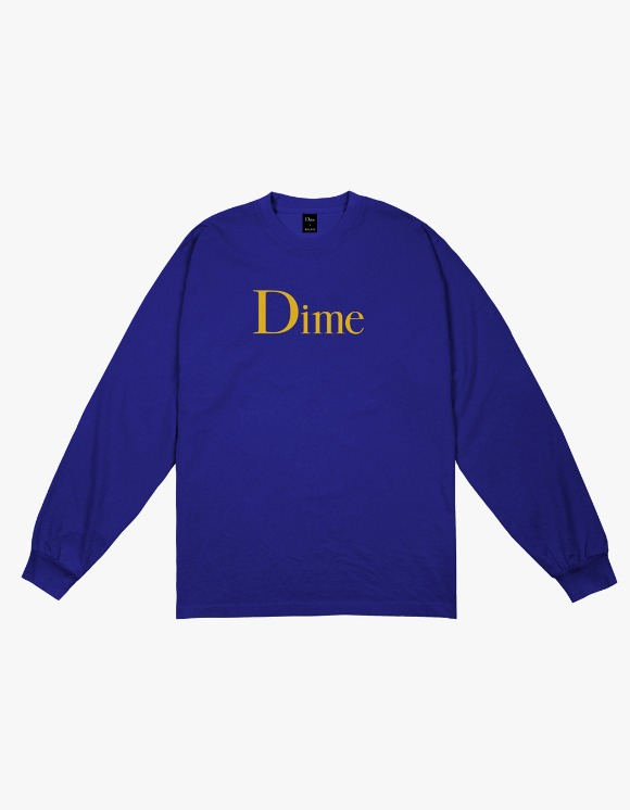 Dime Classic Logo L/S T-shirts - Royal | HEIGHTS. | 하이츠 온라인 스토어
