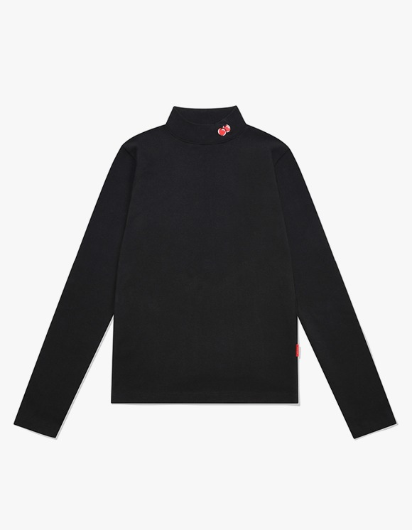 KIRSH SMALL CHERRY TURTLENECK IA - BLACK | HEIGHTS. | 하이츠 온라인 스토어