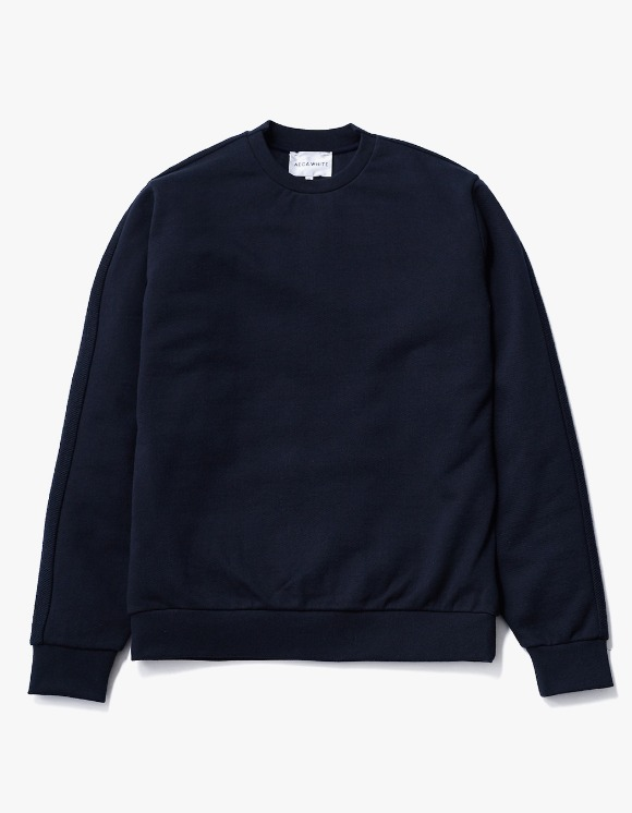 AECA WHITE Blake Patch Sweat - Deep Navy | HEIGHTS. | 하이츠 온라인 스토어